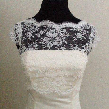 Isobel Cap Sleeve Ivory Lace Bolero